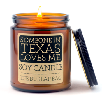 Someone in TX Loves Me Candle